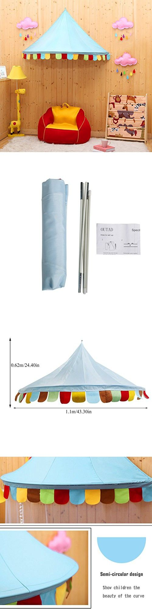 Bed Canopy, OUTAD Foldable Princess Rainbow Play Tent , Cute Style for Baby Kids Reading Play Tents (433124)