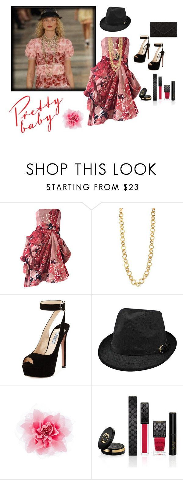 """Pretty Baby ....Ralph Lauren 2017 Preview"" by jbeb ❤ liked on Polyvore featuring Isaac Mizrahi, Stephanie Kantis, Prada, Gucci and Accessorize"