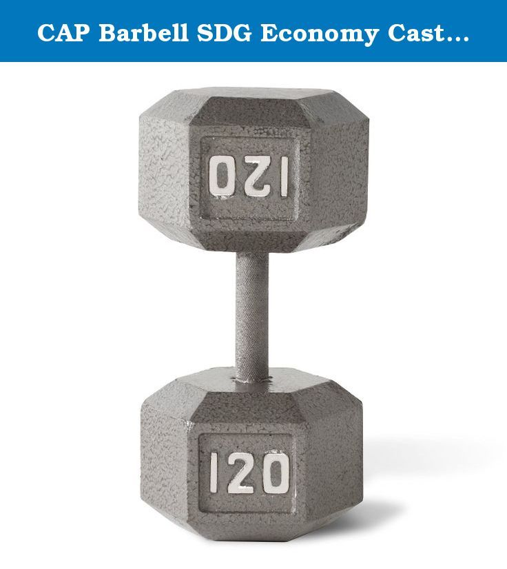 CAP Barbell SDG Economy Cast Iron Hex Dumbbell Set - 105, 110, 115, 120 lbs (4 pairs) - Extra Heavy Dumbbell Expansion Set. Economy Cast Iron Hex Dumbbell Sets from CAP Barbell - Hex dumbbell sets are often the perfect dumbbell choice for home gym and garage gym use. They are economical and space efficient and for a lot of people that is the most important criteria when purchasing dumbbells for home use. Hexagonal dumbbell heads are non-rolling when set down on the floor or racks. Cast…