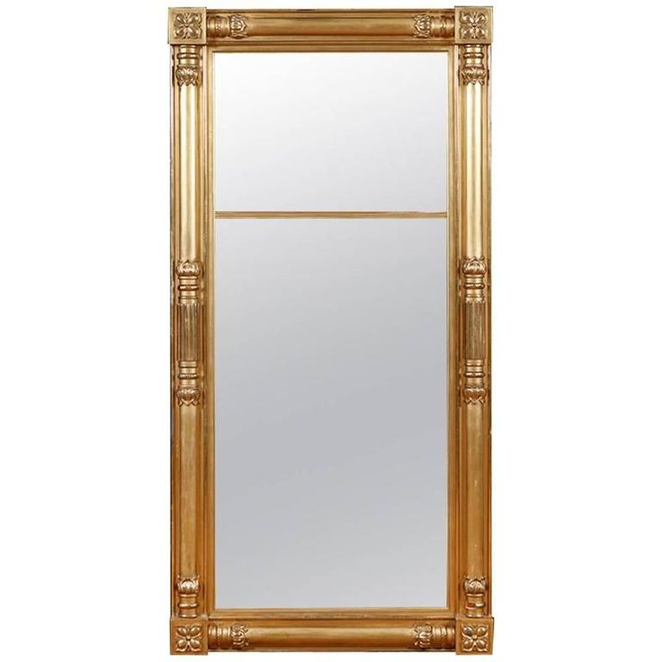 American Federal Giltwood Mirror Attributable to Isaac Platt, New York   From a unique collection of antique and modern wall mirrors at https://www.1stdibs.com/furniture/mirrors/wall-mirrors/