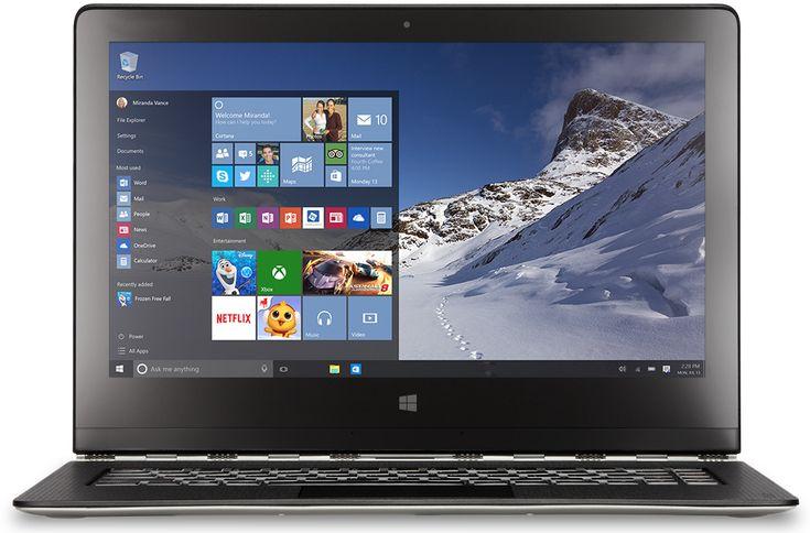 Imagem da área de trabalho do Windows 10 com uma minitela inicial.