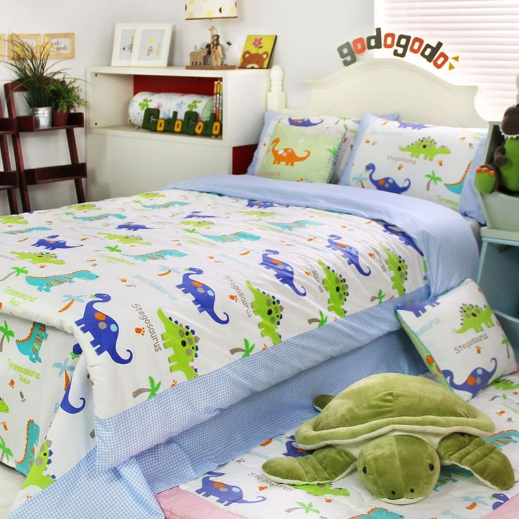 Lime Green and Blue Dinosaur Print Jungle Animal Vogue and ...