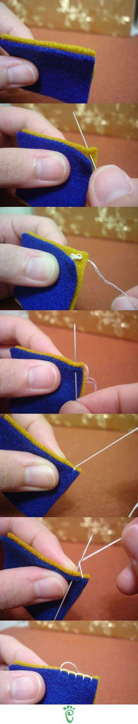 End stitch for those nicer no throw blankets, like I made Greg