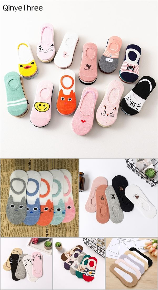 f93becbd68 Wholesale 5 pairs/lot cute harajuku animal socks women summer korean ...