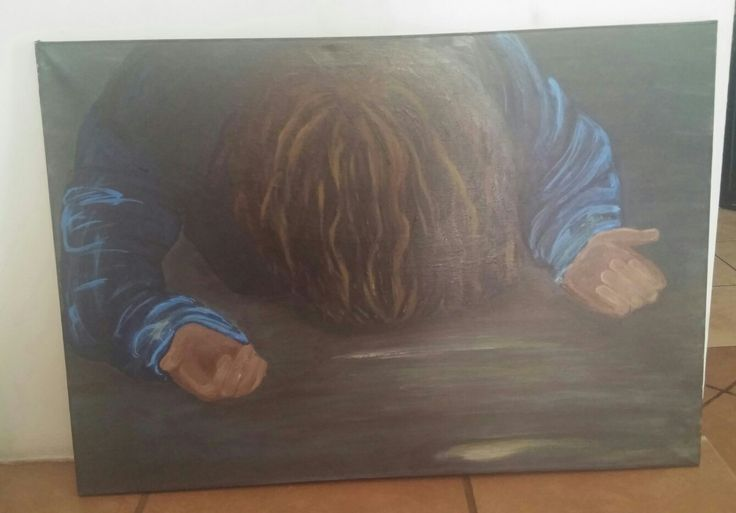 Prophetic art: Falling on my knees...
