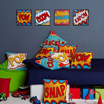 Crackle Comic Book Cushion by COCONUTGRASS
