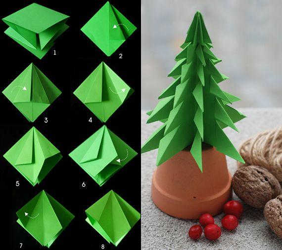 tannenbaum falten aus verschiedenen materialien tinker. Black Bedroom Furniture Sets. Home Design Ideas