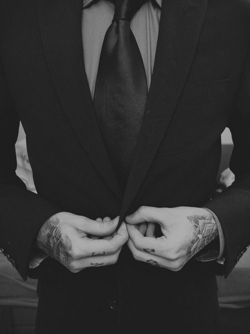 One of my weaknesses is a guy with tattoos in a suit ^_^