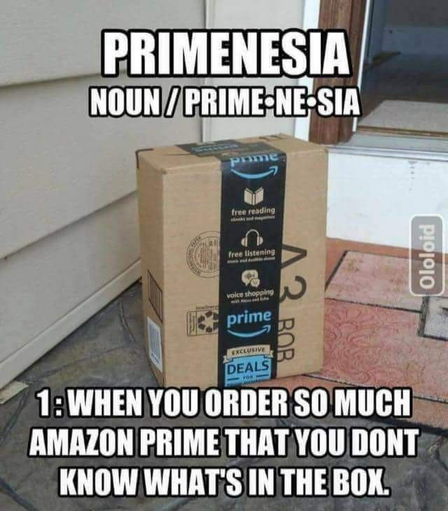 Primenesia #Amazon #Prime | Amazon quote, Amazon meme, Funny quotes