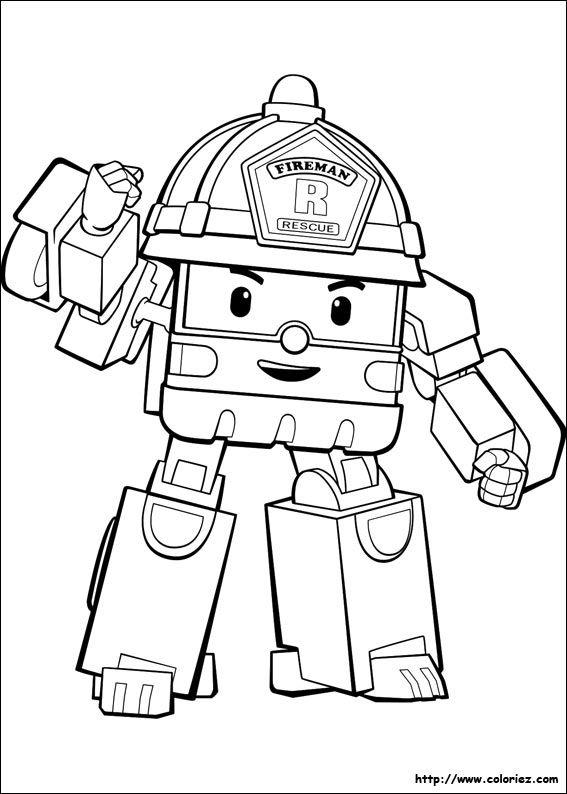 Roy Le Plus Fort Coloriage Robot Coloriage Robocar Poli Coloriage