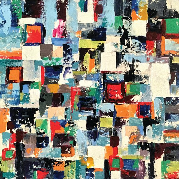 Vogar 48 X 48 Inches Aclylic Abstract Painting by acasaARTstudio