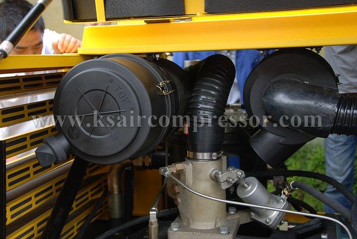 inner structure of the screw compressor, air compressor.