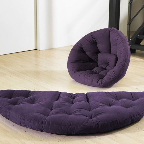 Nido is pretty cool. It can transform from a bed to a low seat. If you combine two you can create a larger, multifunctional sleeping area.    It's perfect for bachelor pads or an