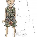 Lombok Girl Dress Pattern. Easy to sew.