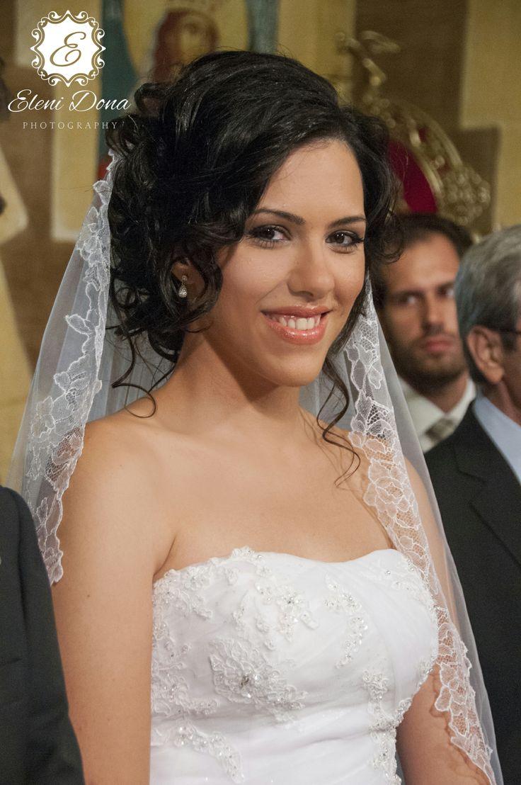 Bridal portrait. Orthodox wedding in Athens, Greece.