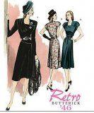 Butterick 5281 - Jaren 40 jurk