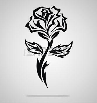 fleurs dessin tatouage tribal rose dessin. Black Bedroom Furniture Sets. Home Design Ideas