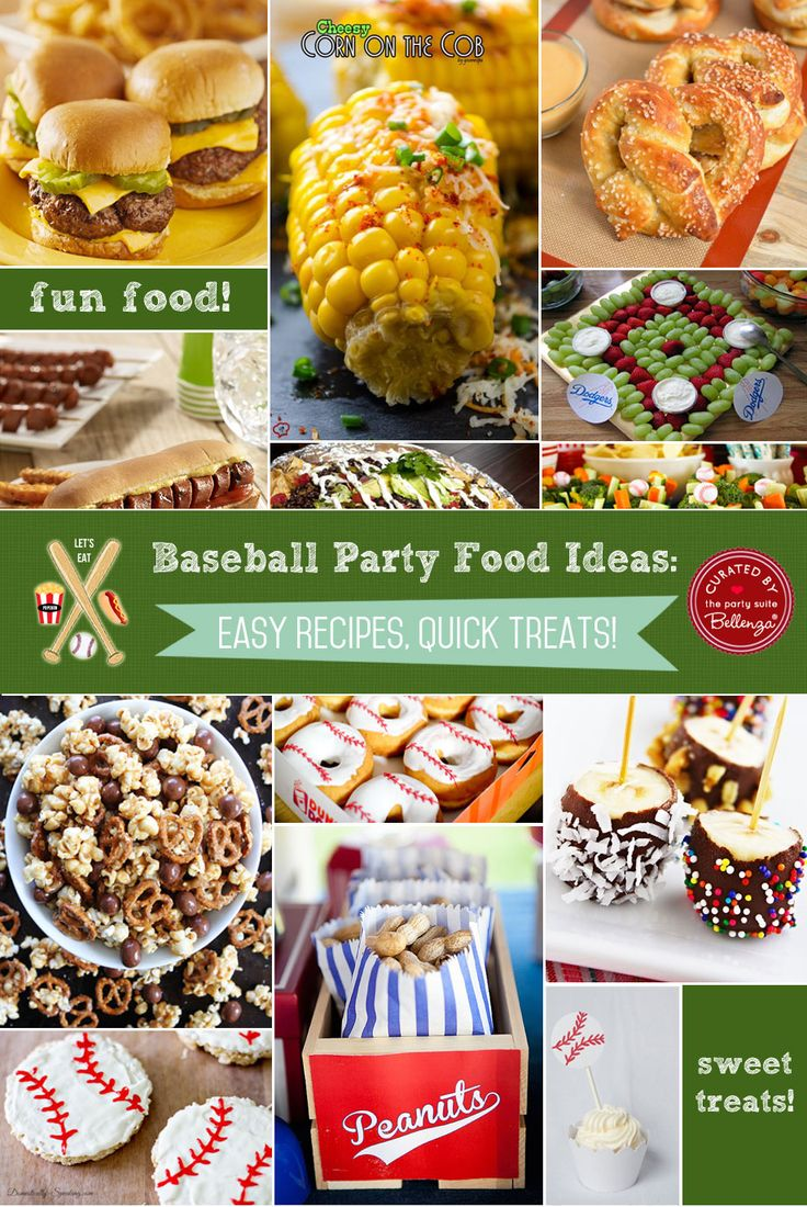 Baseball rehearsal dinner food ideas!