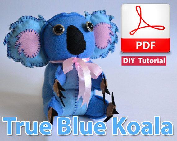 True Blue Koala PDF Tutorial INSTANT DOWNLOAD by vitbich on Etsy