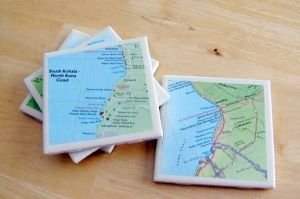 map coasters by ivy