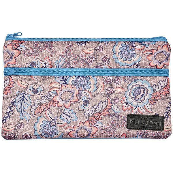 Billabong Azalea Jumbo Pencil Case (£9.96) ❤ liked on Polyvore featuring home, home decor, office accessories, rose blush, billabong pencil case, zip pencil case, zipper pencil pouch, zipper pencil case and coloured pencils