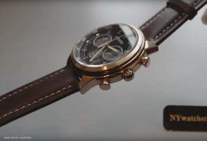 Citizen Eco-Drive Sports-Chrono CA4037-01W – Herren-Chronograph in Braun und Rosé-Gold