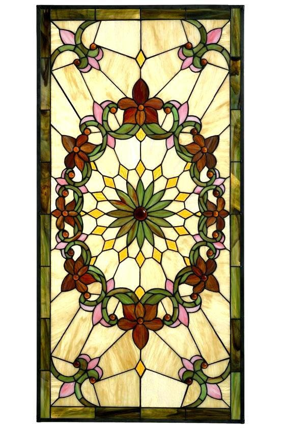 Solstice Large Rectangle Tiffany-Style Art Glass - Art Glass Windows - Home Decor | HomeDecorators.com