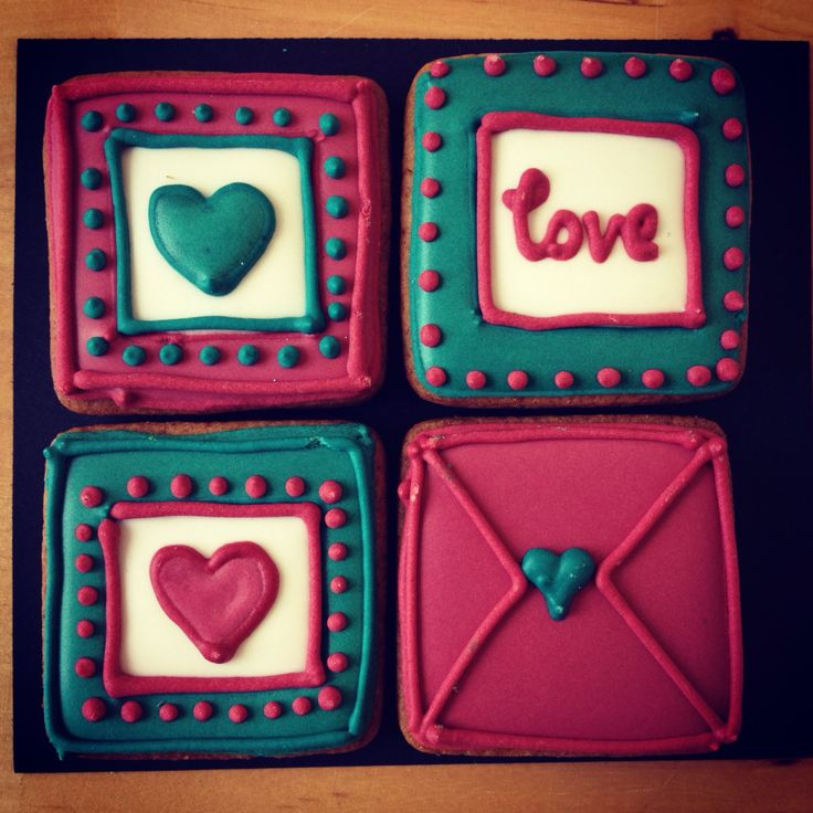 Love Hearts (bag of 4 small squares)