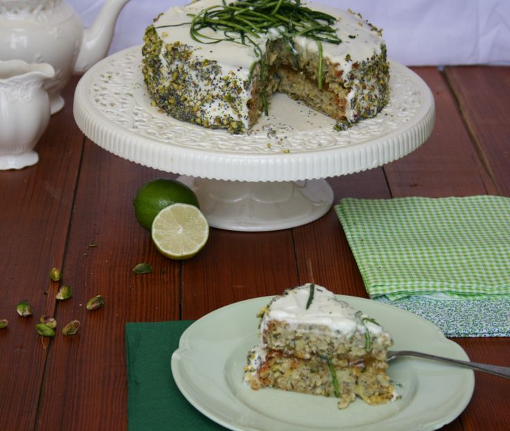 Lime Courgette Cake