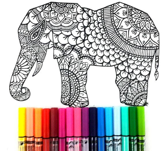 Elephant Page Coloring