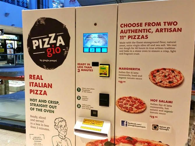 For pizza lovers on the go in Australia! It's a pizza vending machine!
