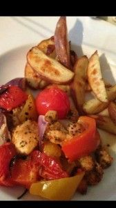 Tray Baked Seasoned Chicken & Wedges - Syn Free #slimminmgworld