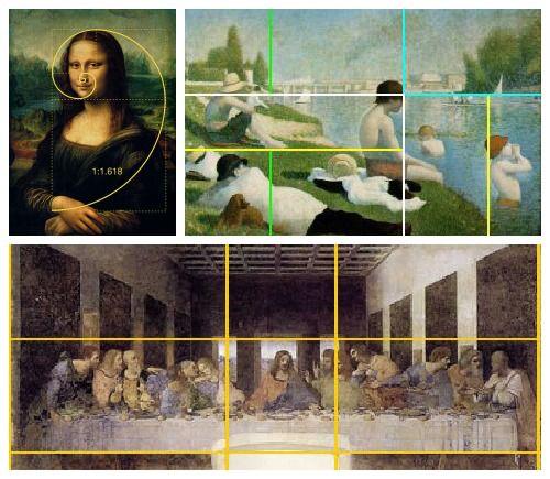 A proporção áurea é um daqueles conceitos surpreendentes que abrange quase todas as áreas de vapor!  O conceito matemático pode ser encontrada em muitas peças famosas de obras de arte.  Esta página tem vários recursos para ensiná-la.