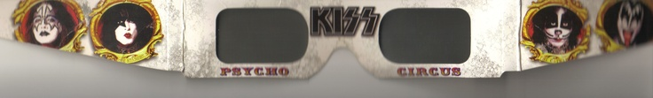 3-D glasses from KISS psycho circus tour
