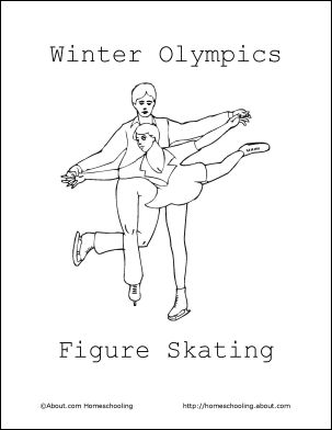 winter olympics coloring book figure skating coloring page