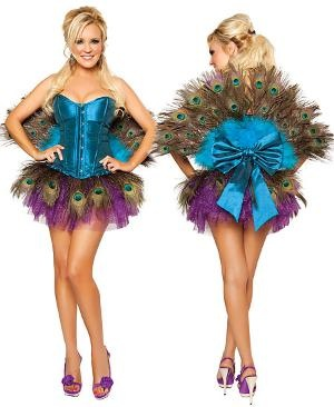 Peacock Halloween Costume fan for peacock costume