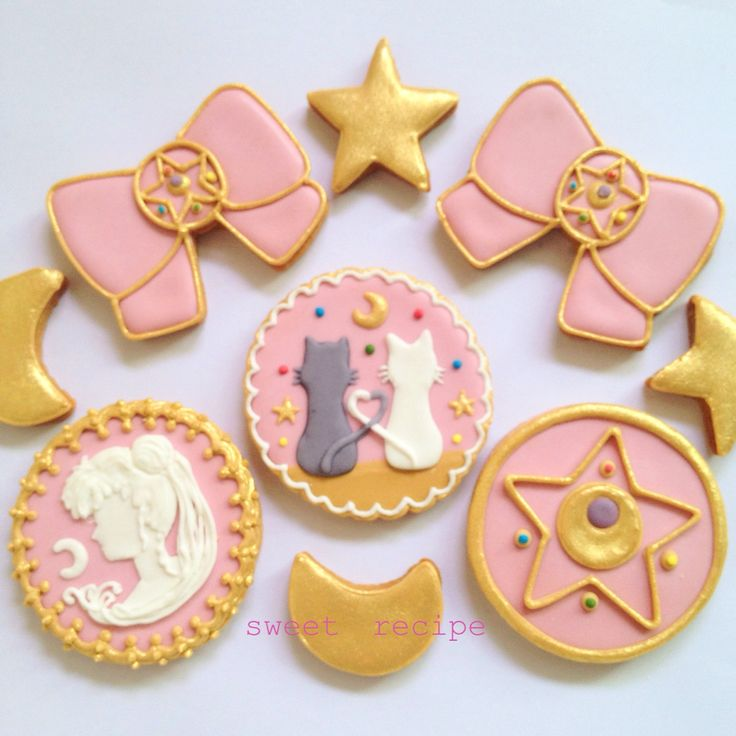 sailormoon  decorated cookies @mysweetrecipe , pastel sailor moon