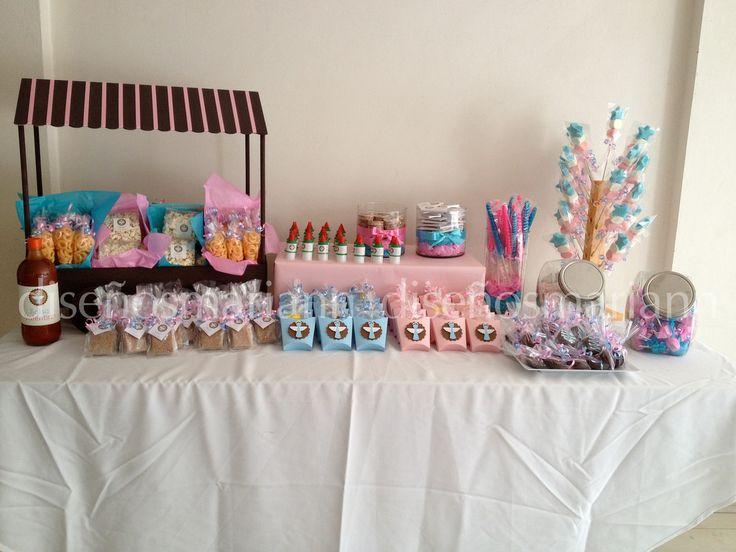 Mesa de dulces para bautizo y confirmaci n todo lo for Mesa de dulces para bautizo de nina
