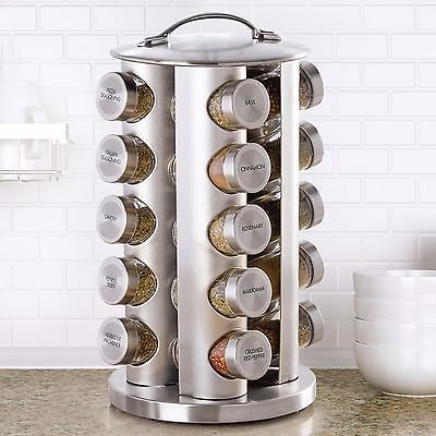 Kamenstein 20 Jar Stainless Steel Revolving Spice Rack New!!!  | eBay