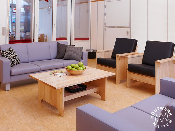 Strong and basic furniture for healthcare facilities