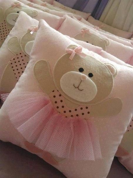 The idea for a pillow in a nursery