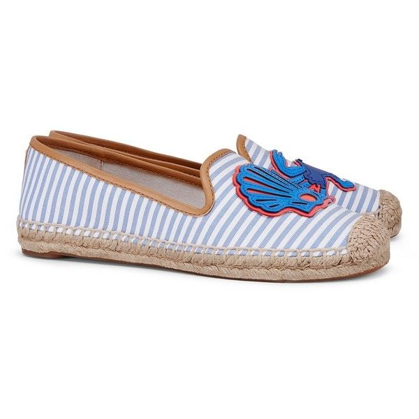 Tory Burch Crab Espadrille Flats ($195) ❤ liked on Polyvore featuring shoes,  flats