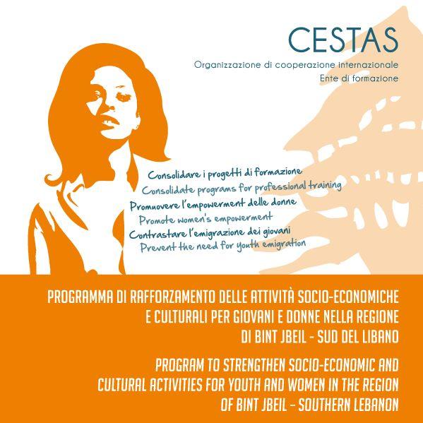 Ideazione e realizzazione grafica per la pubblicazione Cestas sulla condizione delle donne in Libano.     #woman #design #CriGraphics