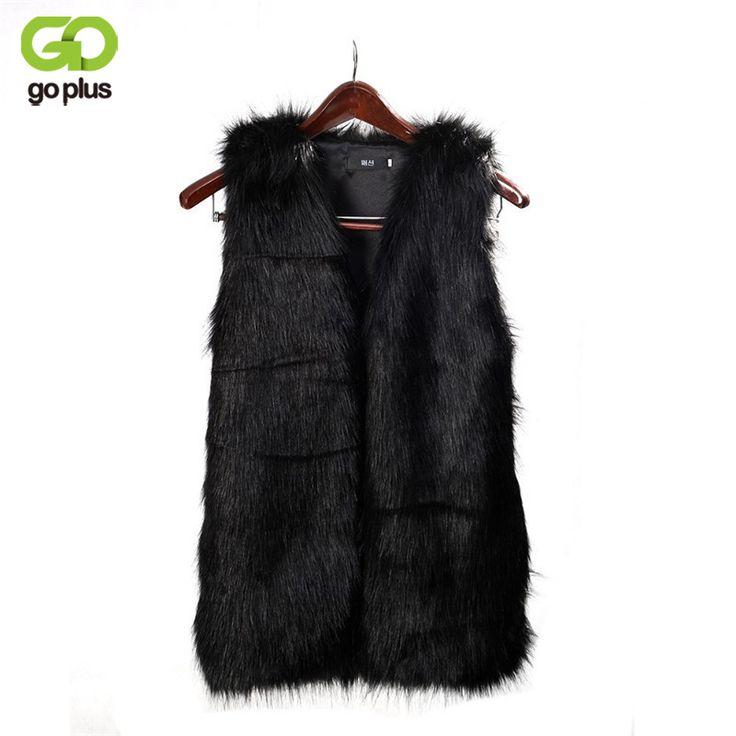 GOPLUS Faux Fur Vest Gilet Fourrure Rabbit Fur femme Vest Outwear Long Coat Special Slim Ladies Coats Fur Women Brown Plus Size