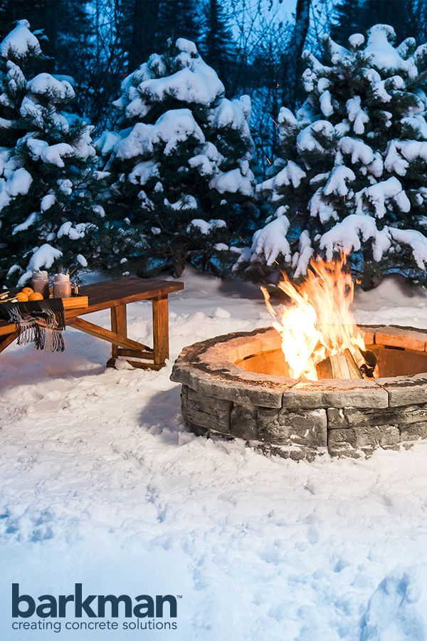 Belvedere Firepits are perfect for cozy Canadian winters.