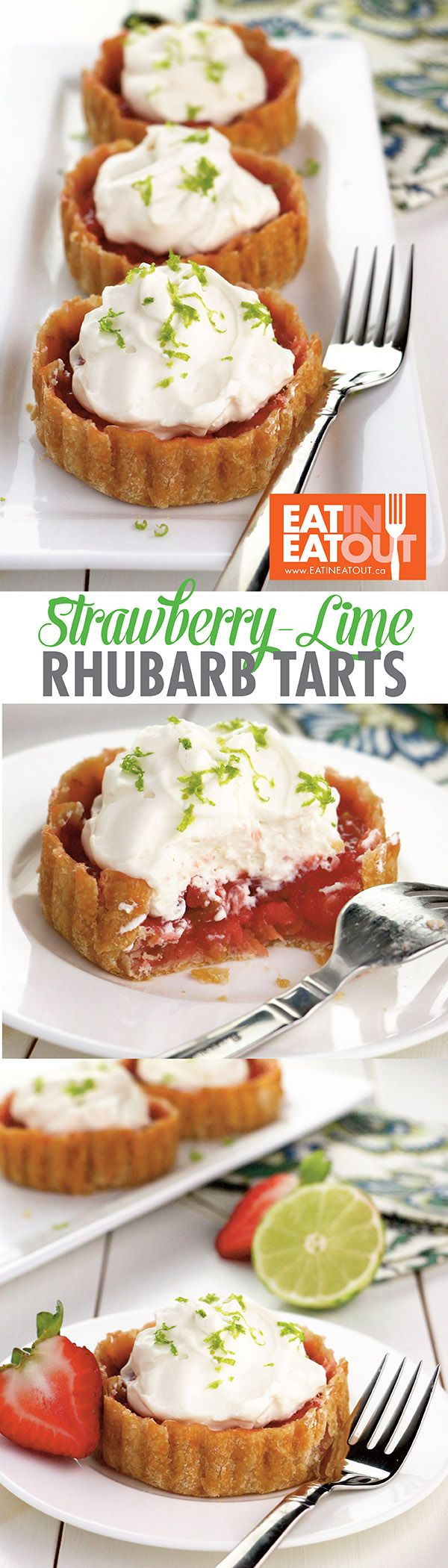 Dazzle Mom with this simple Strawberry-Lime Rhubarb Tart #mothersday #yummy #dessert