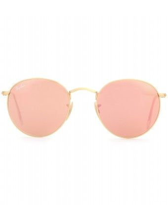 Ray-Ban rose gold round sunglasses