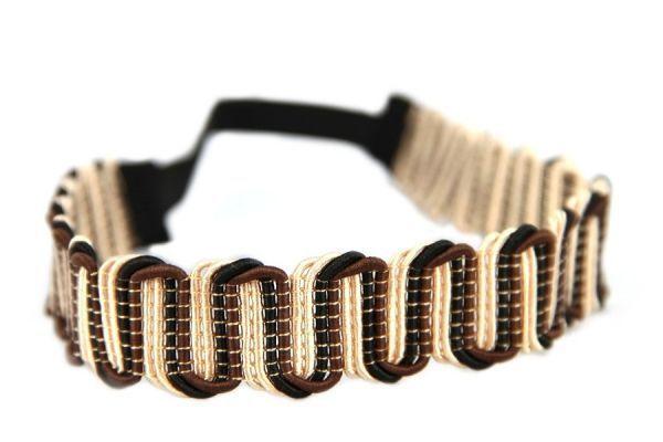 Bandeau élastique  marron pour cheveux chatain ou crépu