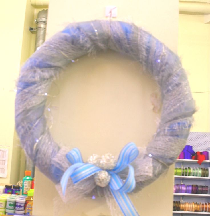 Something modern using ribbons, organza and wire shapes