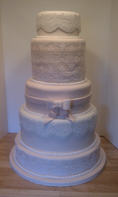 Tier Wedding Cake With Lace